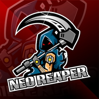Neo mietitore logo design mascotte