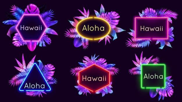 Distintivi aloha al neon