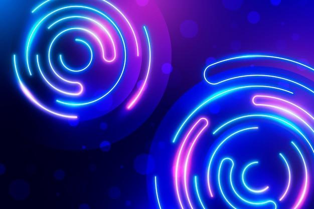 Disegno di sfondo al neon