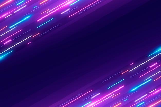 Disegno effetto sfondo al neon