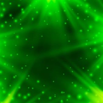 Sfondo al neon di verde con raggi di luce. illustrazione vettoriale