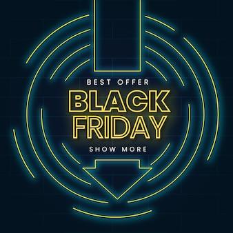 Concetto di venerdì nero al neon