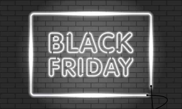 Vendita al neon del black friday.