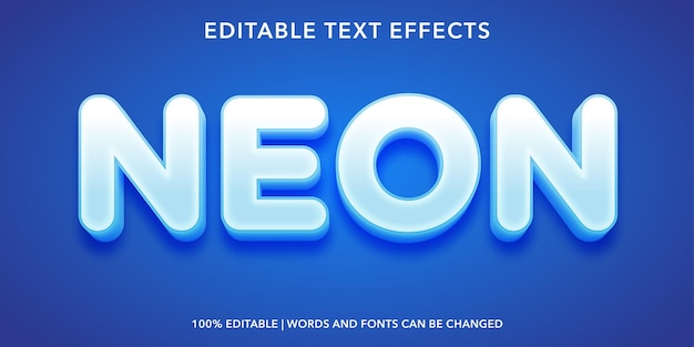 Effetto di testo modificabile al neon