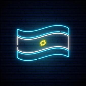 Bandiera al neon dell'argentina