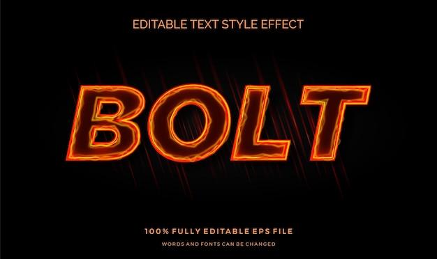 Effetto stile testo fiamma al neon. carattere modificabile