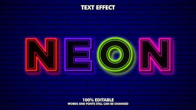 Effetto di testo modificabile al neon flex