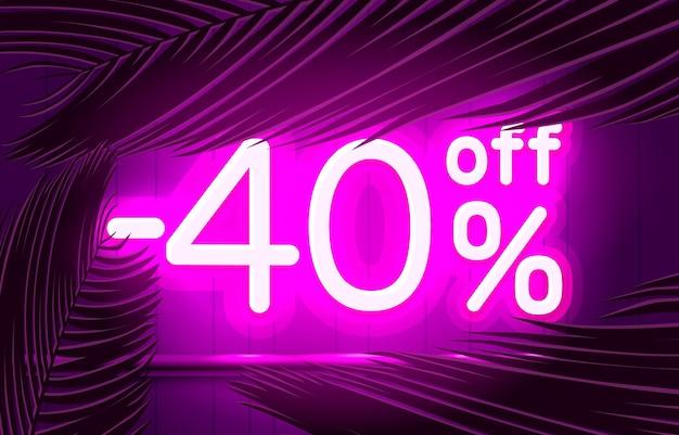 Cornice al neon fuori testo banner estate bar promozione notte cartello vettore
