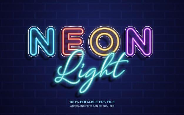 Effetto stile testo modificabile neon glow