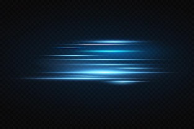 Linee blu incandescente al neon. effetto luce.