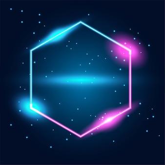 Neon incandescente linee techno, futuristico hi-tech astratto