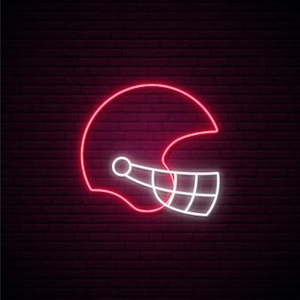 Segno di casco al neon.