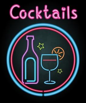 Design leggero al neon per cocktail