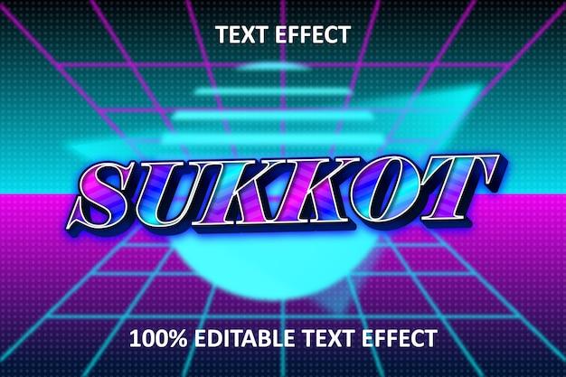 Effetto di testo modificabile luce al neon arcobaleno blu viola