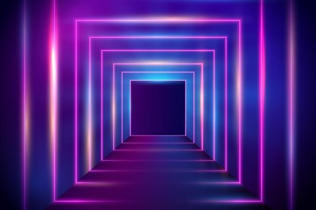 Disegno astratto sfondo luci al neon