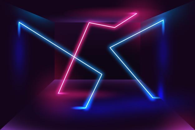 Stile di sfondo di luci al neon