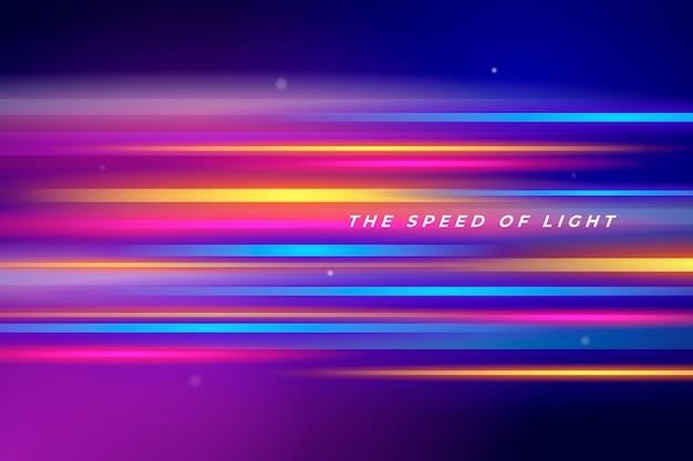 Sfondo futuristico di luci al neon