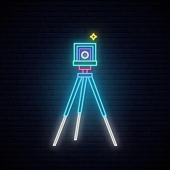 Segno della macchina fotografica al neon foto