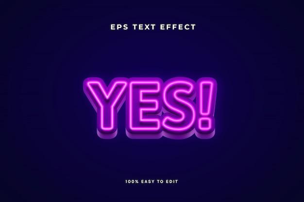 Effetto di testo viola al neon