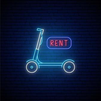 Segno di scooter al neon