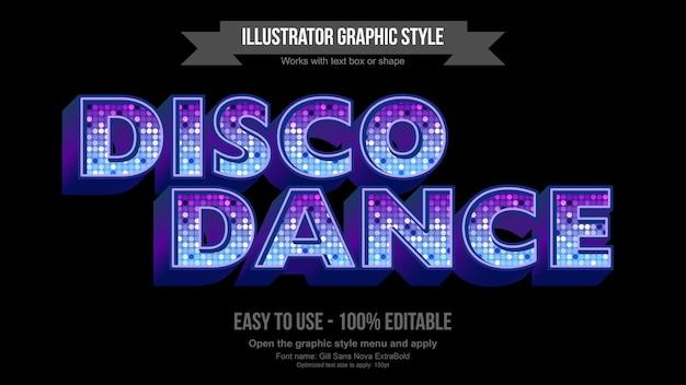 Neon shine disco globe modificabile effetto di testo
