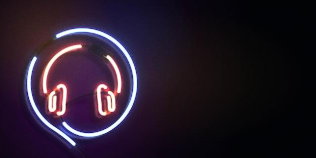 Insegna al neon di on air con copia spazio