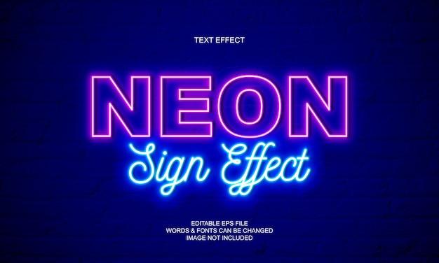 Effetto del testo del segno al neon