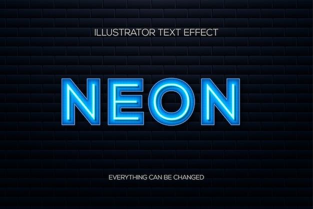 Effetto di testo al neon su uno sfondo di mattoni.