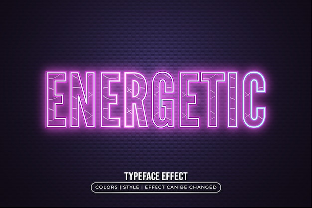 Neon text effect con retro
