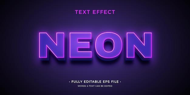Effetto di testo al neon