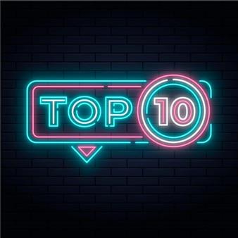 Neon top ten illustrazione