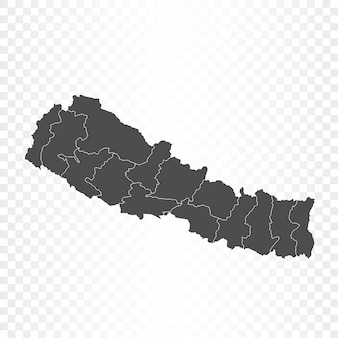 Rendering isolato mappa nepal