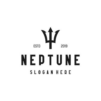 Logo di nettuno con tipo di disegno