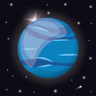 Spazio del sistema solare del pianeta nettuno