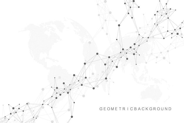 Sfondo di rete e connessione