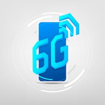 Rete wireless con connessione ad alta velocità sul concetto di smartphone.