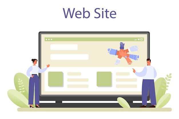Servizio o piattaforma online di networking. collaborazione dei dipendenti