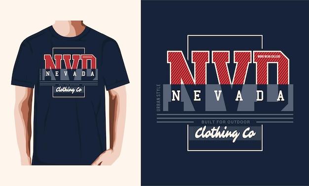 T-shirt nevada e design di abbigliamento