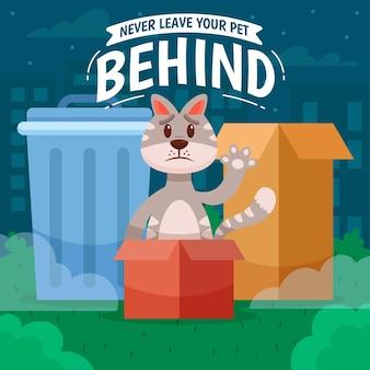 Non lasciare mai il tuo animale domestico con il gatto