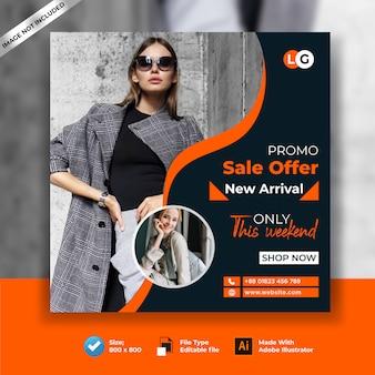 Nuovo banner arial social medial fashion slaes