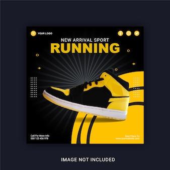 Nuovo arrivo sport running social media post instagram banner template