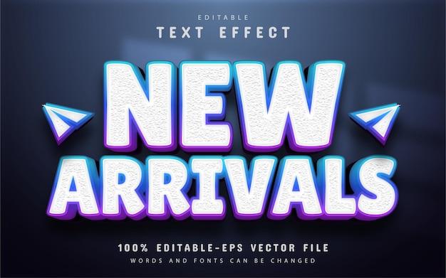 Nuovi arrivi effetto testo con gradiente