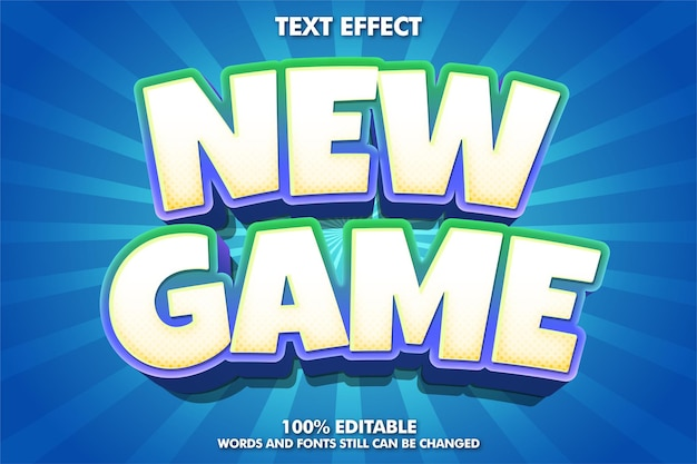 Nuovo effetto di testo in stile gioco adesivo di gioco
