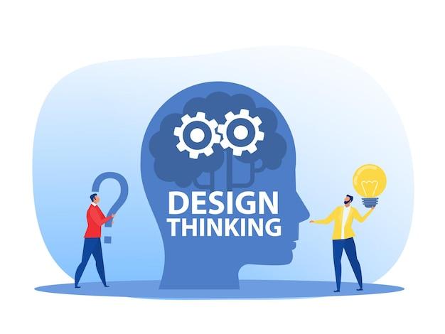 Nuova idea di ingegneria del modello di business innovazione e concetto di pensiero progettuale pensiero progettuale