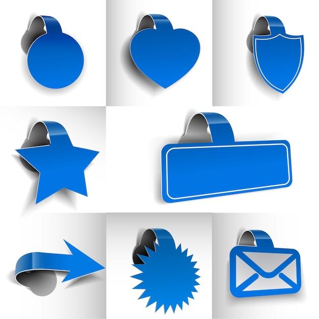 Nuove etichette, tag, elemento di design adesivo.