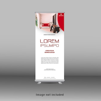 Nuovo design moderno rosso roll up banner standee