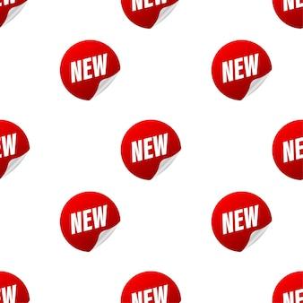 Nuovo modello di vendita. collezione di adesivi. bandiera del nastro. illustrazione vettoriale.