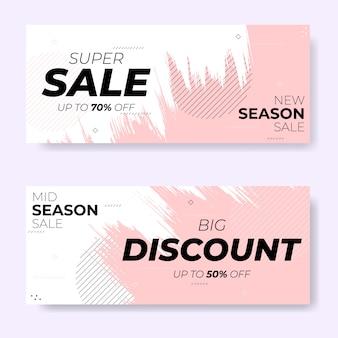 Set di banner di vendita pennello nuova stagione