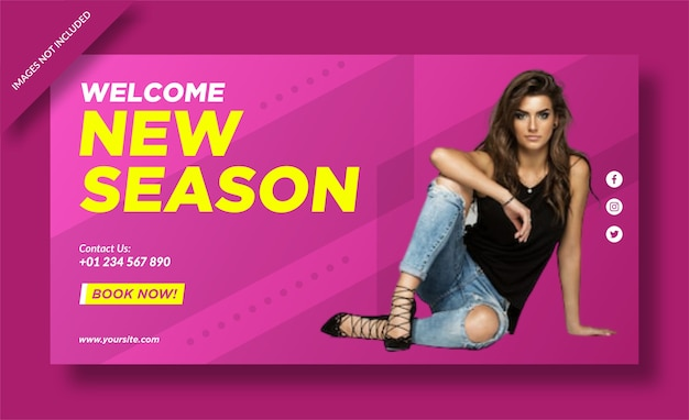 Design di banner di moda della nuova stagione
