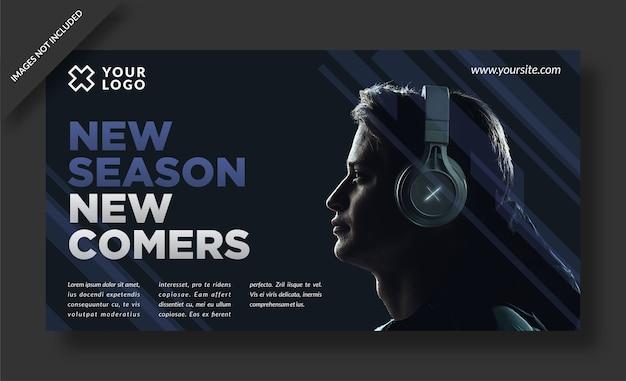 Banner di vendita della nuova stagione e modello di social media